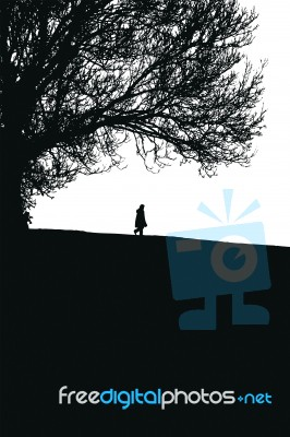 silhouetted-figure-and-tree-1008861
